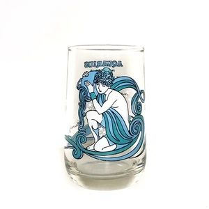 Aquarius Vintage Drinking Beverly Drinking Glass